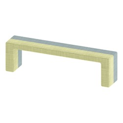 """Shapes Series II Stacks Nested Soft Seating Bench (20"""" H) - Green & Blue"""
