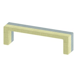 """Shapes Series II Stacks Nested Soft Seating Bench (20\"""" H) - Green & Blue"""