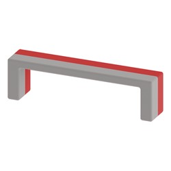 """Shapes Series II Stacks Nested Soft Seating Bench (20"""" H) - Red & Light Gray"""