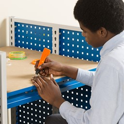 """Creation Station Set - One Tall Workbench (60"""" L x 30"""" D x 70"""" H), One Workbench (30"""" L x 30"""" D x 36"""" H), One Workbench (60"""" L x 30"""" D x 36"""" H) - Accessories not included"""