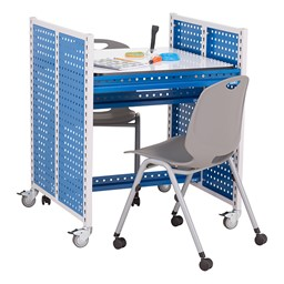 "Creation Station Workbench Kit - Square (30"" L x 30"" D x 36"" H) - Seating & accessories not included"