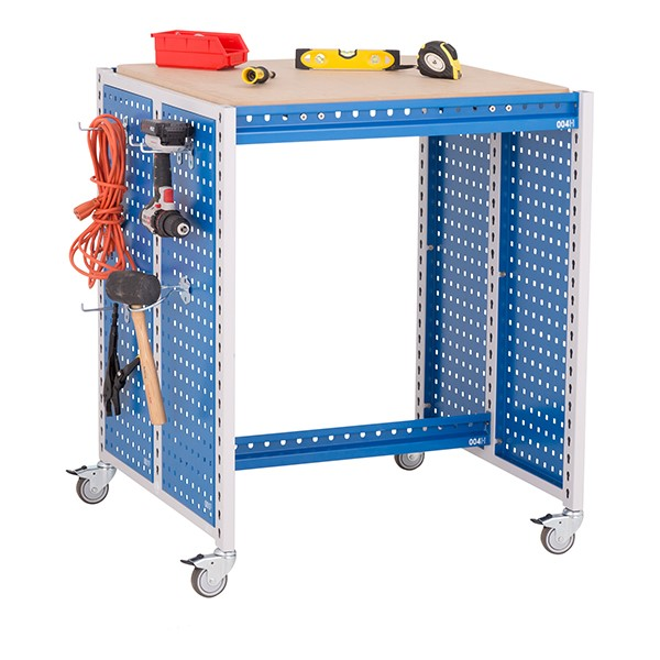 "Creation Station Workbench Kit - Square (30"" L x 30"" D x 36"" H) - Bin sold separately (accessories not included)"