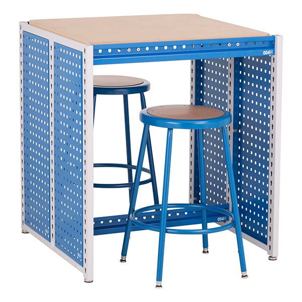 "Creation Station Workbench Kit - Square (30"" L x 30"" D x 36"" H) - Stools sold separately"