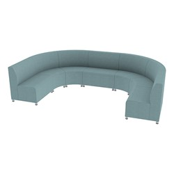 Shapes Series II Banquette Vinyl Soft Seating Set - Horseshoe - Blue