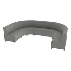 Shapes Series II Banquette Vinyl Soft Seating Set - Horseshoe - Gray