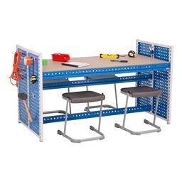 "Creation Station Workbench Kit - Rectangle (60"" L x 30"" D x 36"" H) - Bin sold separately (stools & accessories not included)"