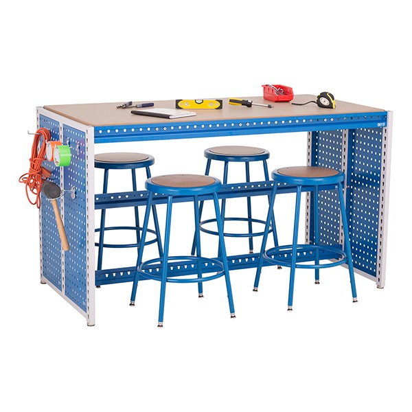 "Creation Station Workbench Kit - Rectangle (60"" W x 30"" D x 36"" H) - Stools & bin sold separately (accessories not included)"