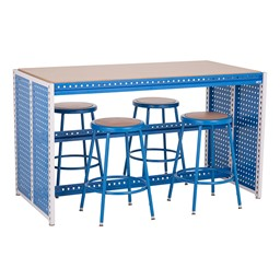 "Creation Station Workbench Kit - Rectangle (60"" L x 30"" D x 36"" H) - Stools sold separately"