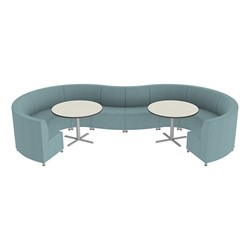 Shapes Series II Banquette Vinyl Soft Seating Set - 10-Piece Inner on