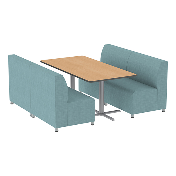 Shapes Series II Banquette Vinyl Soft Seating Set U2013 Four Piece Rectangle  Seating W/
