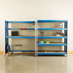 """Creation Station Shelving Unit Kit (60"""" L x 30"""" D x 70"""" H) - Bins sold separately (stool & accessories not included)"""