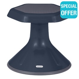 """Active Learning Stool (12\"""" Stool Height) - Navy"""