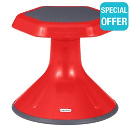 """Active Learning Stool (12\"""" Stool Height) - Red"""