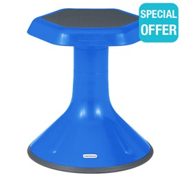"""Active Learning Stool (15\"""" Stool Height) - Blue"""