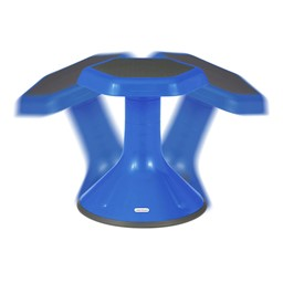"Boomerang Collaborative Desk w/ Wire Box & 18"" Active Learning Stool Set - Stool - Range of Motion"