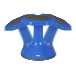 "Active Learning Stool (12"" Stool Height) - Blue - Range of Motion"