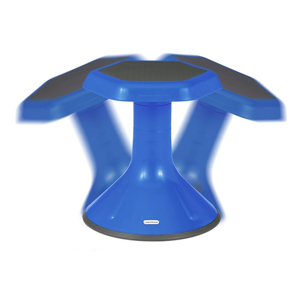 "Active Learning Stool (18"" Stool Height) - Blue - Range of Motion"