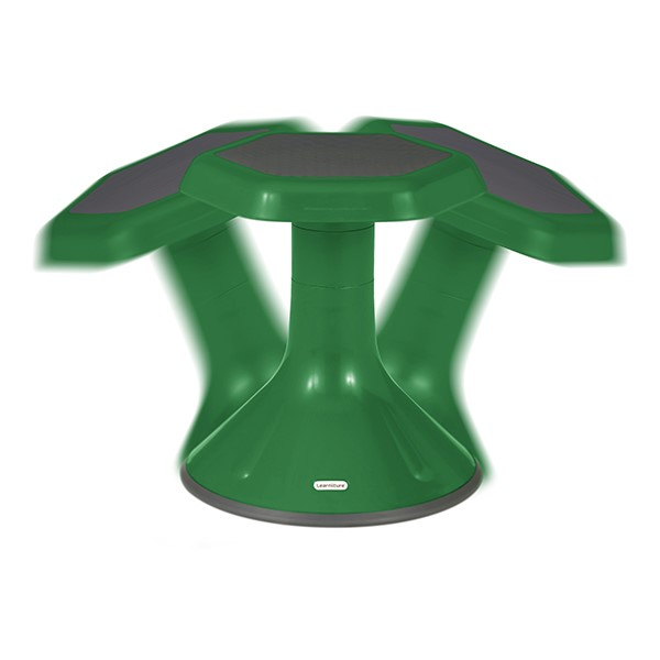 "Active Learning Stool (15"" Stool Height) - Green - Range of Motion"