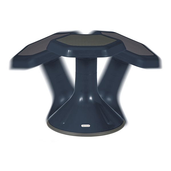 "Active Learning Stool (18"" Stool Height) - Navy - Range of Motion"