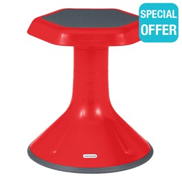 "Active Learning Stool (15"" Stool Height) - Red"
