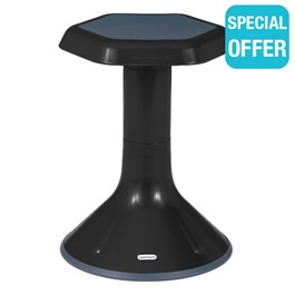 "Active Learning Stool (18"" Stool Height) - Black"