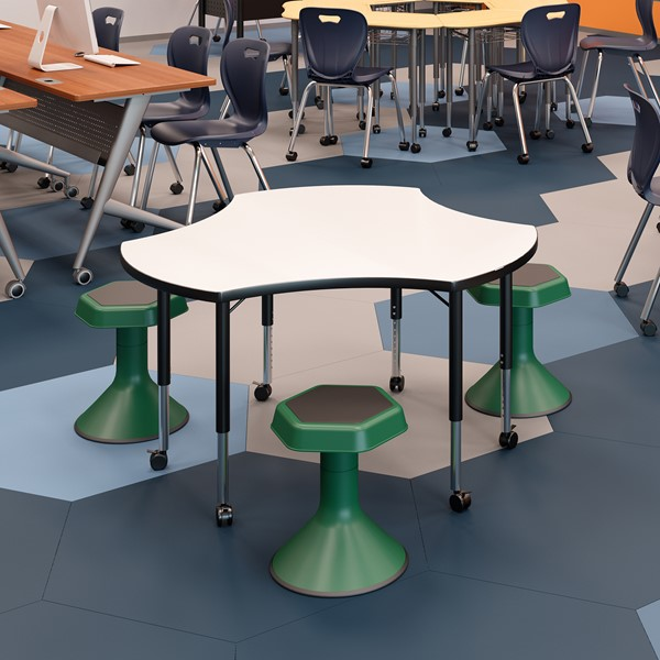 """Pack of 18"""" H Active Learning Stools-Shown H  Env"""