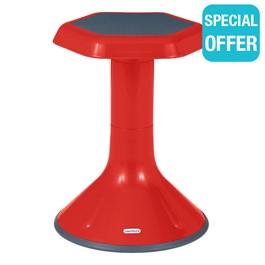 """Active Learning Stool (18\"""" Stool Height) - Red"""