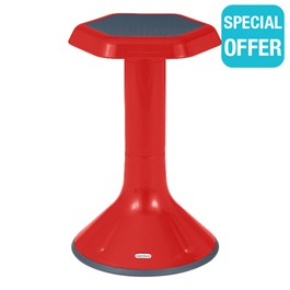 """Active Learning Stool (20\"""" Stool Height) - Red"""