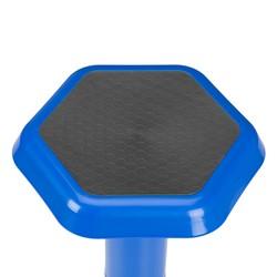 "Trapezoid Collaborative Desk & 18"" Navy Active Learning Stool Set - Stool - Seat"