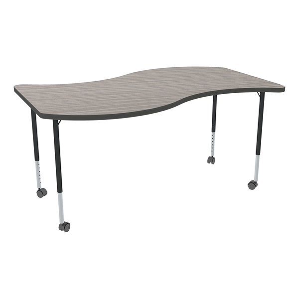 Learniture Structure Series Mobile Wave Collaborative Table