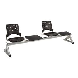 Ballard Series Beam Seating w/ 2 Padded Vinyl Seats & 2 Tables
