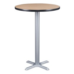 Round Pedestal Stool-Height Café Table