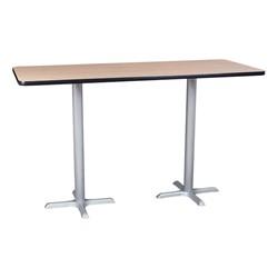 Rectangle Pedestal Stool-Height Café Table