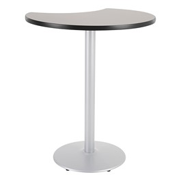 Crescent Pedestal Stool-Height Café Table w/ Round Base