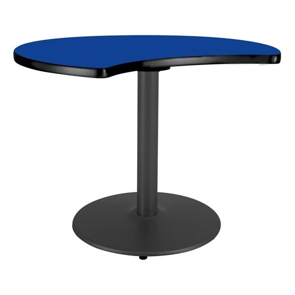 Ocean Table Top/Gray Edgeband/Silver Base - Lapis Blue Table Top/Black Edgeband/Black Base