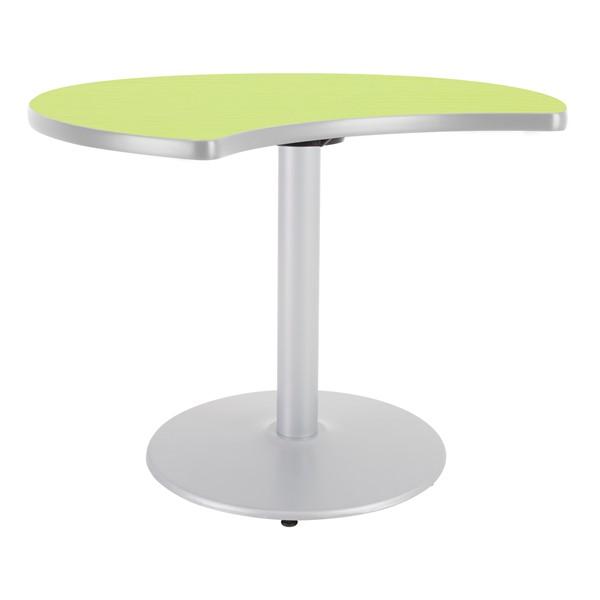 Ocean Table Top/Gray Edgeband/Silver Base - Island Tabletop/Gray Edgeband/Silver Base