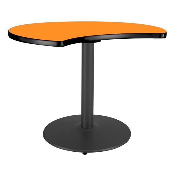Ocean Table Top/Gray Edgeband/Silver Base - Orange Grove Table Top/Black Edgeband/Black Base