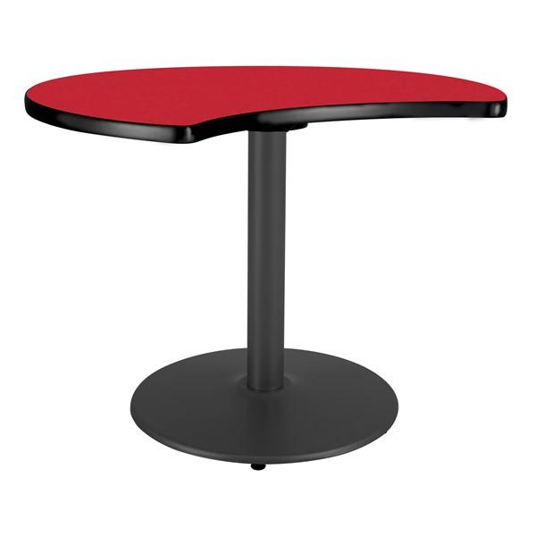 Ocean Table Top/Gray Edgeband/Silver Base - Regimental Red Table Top/Black Edgeband/Black Base