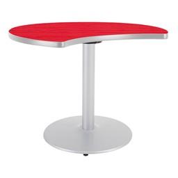 Ocean Table Top/Gray Edgeband/Silver Base - Hollyberry Table Top/Gray Edgeband/Silver Base