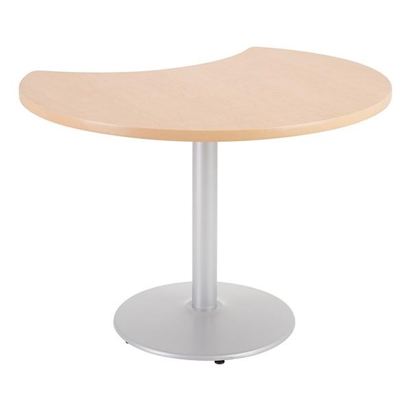 Crescent Pedestal Café Table w/ Round Base