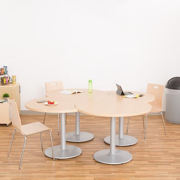Crescent Pedestal Café Table w/ Round Base - Grouped