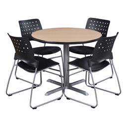 Round Pedestal Café Table - chairs not included