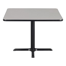 Square Pedestal Café Table and Ballard Stack Café Chair Set - Table