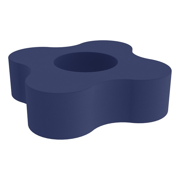 """Shapes Series II Vinyl Soft Seating - Gear Shape w/ Four Points (12"""" H) - Navy"""