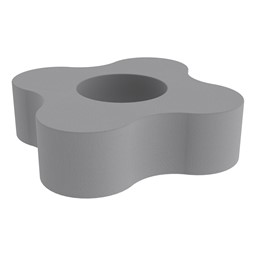 """Shapes Series II Vinyl Soft Seating - Gear Shape w/ Four Points (12"""" H) - Cool Gray"""