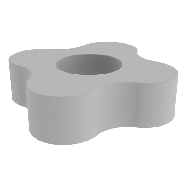 """Shapes Series II Vinyl Soft Seating - Gear Shape w/ Four Points (12"""" H) - Light Gray"""