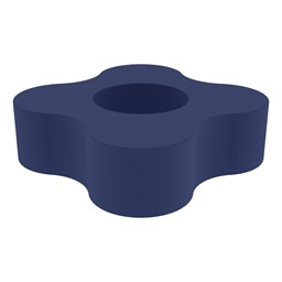 """Shapes Series II Vinyl Soft Seating - Gear Shape w/ Four Points (12"""" H) -- Navy"""