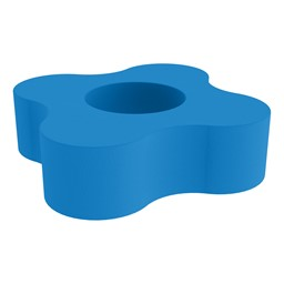 """Shapes Series II Vinyl Soft Seating - 4 Point Gear Shape (12"""" H) - French Blue"""