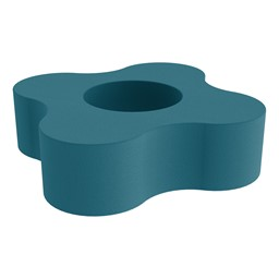 """Shapes Series II Vinyl Soft Seating - Gear Shape w/ Four Points (12"""" H) - Teal"""