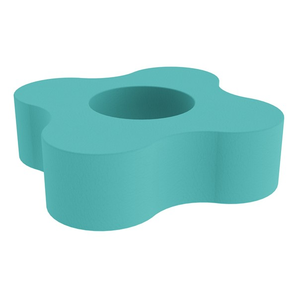"""Shapes Series II Vinyl Soft Seating - Gear Shape w/ Four Points (12"""" H) - Turquoise"""